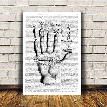 Occult poster Zodiac print Witch art Modern decor RTA374