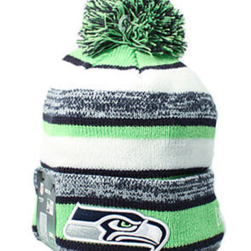Seattle Seahawks On Field Sport Knit Beanie (Multi/Neon Green)
