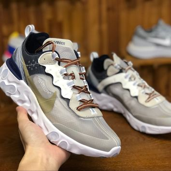 [Free Shipping ]Undercover X Nike React Element AQ1813 343 Basketball  Sneaker