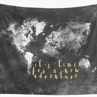 'It's time for a new adventure #motivation #quotes' Wall Tapestry by JBJart