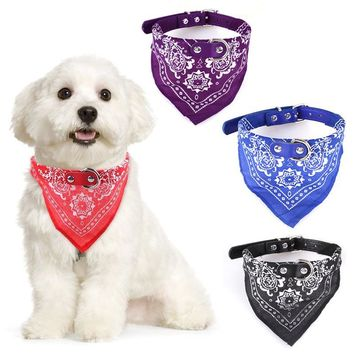 4 Size Adjustable Dog Collar Puppy Cat Scarf Collar for Dogs Bandana Neckerchief Paisley Pattern Pet Accessories WS486