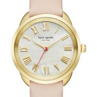 kate spade new york crosstown leather strap watch, 34mm | Nordstrom