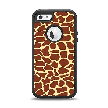 The Simple Vector Giraffe Print Apple iPhone 5-5s Otterbox Defender Case Skin Set