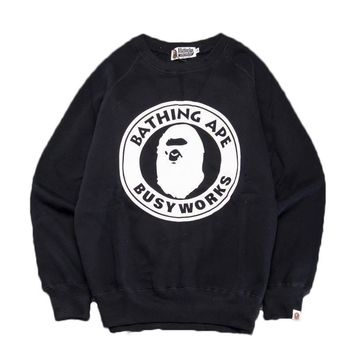 spbest A Bathing Ape Circle Busy Works Crewneck Sweat