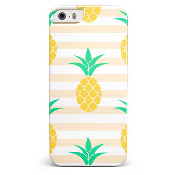 Pineapple Over Apricot Stripes iPhone 5/5s or SE INK-Fuzed Case