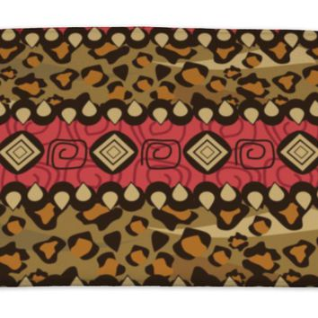 Bath Mat, African Style With Cheetah Skin Pattern