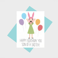 Louise Belcher- Bob's Burgers Birthday Card