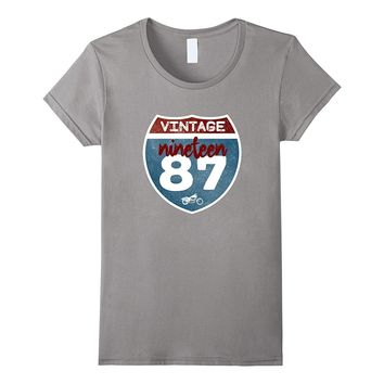 Vintage 1987 30th Birthday 30 Years Old Gift Idea T-Shirt