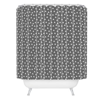 Gabi In Flight Gray Shower Curtain