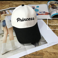 Princess Baseball Cap, Low-Profile Baseball Cap Hat Tumblr Inspired Pastel Pale Grunge