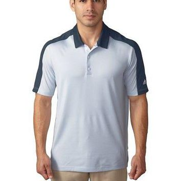 Licensed Golf New 2016 Adidas  Pique Geo Block Polo Shirt - Halo Blue - Pick Size