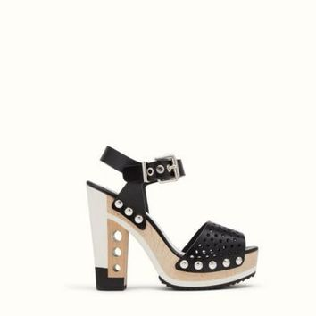Fendi OPENWORK SANDALS with platform and sculpted heel Size 37 MSRP $1150