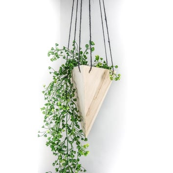 W/S Geometric Hanging Planter - Maple Tall