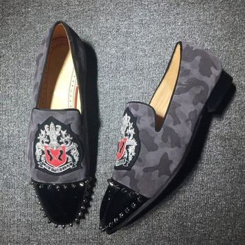 DCC3W Cl Christian Louboutin Loafer Style #2410 Sneakers Fashion Shoes