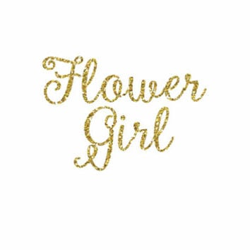 Flower Girl Iron-On Vinyl Heat Transferl - Glitter Iron-On - 5 Colors -  DIY Flower Girl Shirt - DIY Bridal Party Shirt- DIY Flower Girl