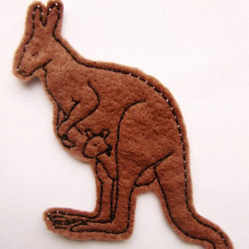 Iron On Patch Kangaroo Applique