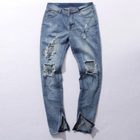 Destroyed & Distressed Denim Jeans