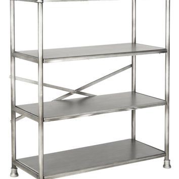 Jacinda Large Bookcase Dark Silver