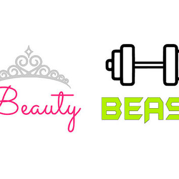 Beauty and The Beast water bottle decal