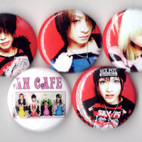 An Cafe - Set of 5 - Antic Cafe AnCafe Miku Kanon Bou Teruki JRock Buttons Pins Badges Pinback