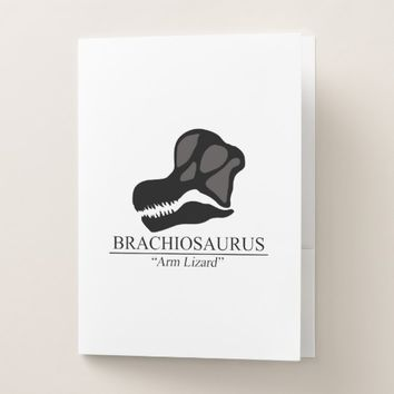 Brachiosaurus Skull Pocket Folder