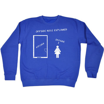 123t USA Offside Rule Explained Kitchen Offside Funny Sweatshirt