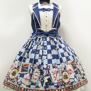 Magical Night Theater Jumperskirt - Navy [142PJ10-2913-ko] - $270.00 : Angelic Pretty USA