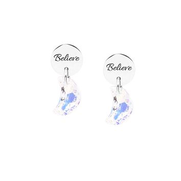 Swarovski Stud Earrings - Believe
