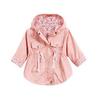 Baby Girl Coat Long Sleeve Outerwear Girls Jackets Kids Warm Clothing