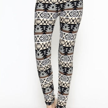 Womens Tribal Print Leggings Young Adults