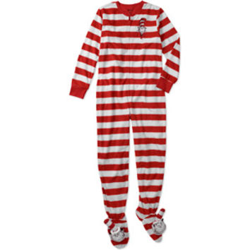 Walmart: Women's Cat in the Hat 3D One-Piece Hooded Footie Pajamas