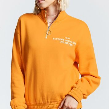 Pull-Ring Graphic Pullover