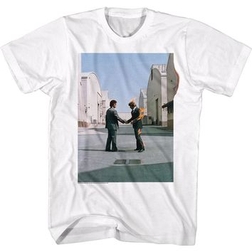 Pink Floyd Men's  Fireguy T-shirt White