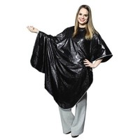 Salon Care Black Vinyl Cape