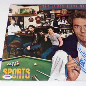 "Huey Lewis Signed Autographed ""Sports"" Record Album (PSA/DNA COA)"
