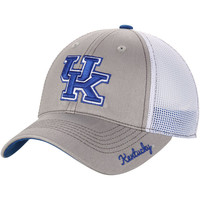Women's Top of the World Gray Kentucky Wildcats Glamour Trucker Adjustable Hat