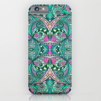 Drawing Floral Zentangle g207 iPhone & iPod Case by MedusArt | Society6
