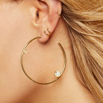 Free People 14k Holy Fire Opal Hoops