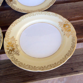 Goldena China dessert plate  - Fine China made in Japan - gold design dessert plate