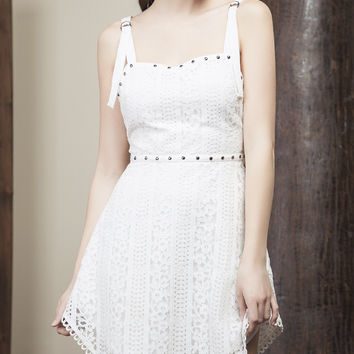 Stud Outline Lace Dress