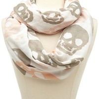 Skull Print Infinity Scarf: Charlotte Russe