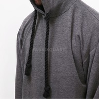 Mens Vandalique Rope String Oversized Silky Hoodie at Fabrixquare