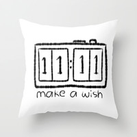 11:11 Throw Pillow by Sjaefashion | Society6