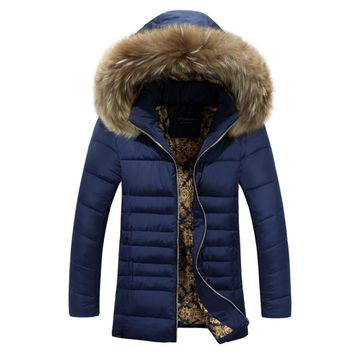 New Arrivals Winter Men's Jacket Fur Collar Windproof Warm Jacket for Men Hooded Men Coat Men's Clothing