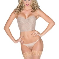 Be Wicked BW1510N 1-Piece Lace-cropped bustier