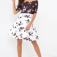 LITTLE MISTRESS 2 IN 1 FLORAL PRINT DRESS