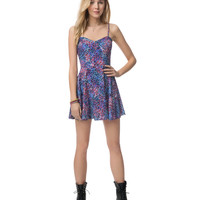 Aeropostale  Womens Sunset Floral Rayon Dress - Blue, X-Small