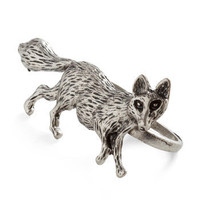 Tricked Out Ring   Two Finger Fox Ring