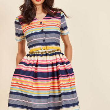Captivate in Color Shirt Dress | Mod Retro Vintage Dresses | ModCloth.com