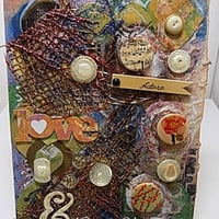 Adore and Love Mixed Media Canvas Board